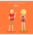 Sanguine Temperament Type People vector image vector image