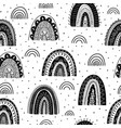 scandinavian rainbows seamless pattern vector image
