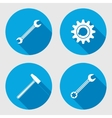 Screwdriver hammer wrench key icon bolt nut vector image vector image