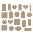 set gift tag discount label twenty vector image vector image