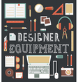 Set of equipment for design Designer gadgets for c vector image vector image