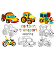 set of isolated cartoon transport with eyes part 2 vector image vector image