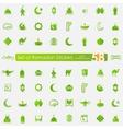 Set of ramadan stickers vector image