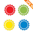 Sign sticker tag - - EPS10 vector image vector image