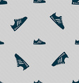 Sneakers icon sign Seamless pattern with geometric vector image vector image