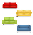 sofa big collection isolated white background vector image vector image