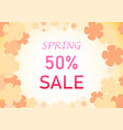 Spring background with pastel flower art