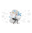 stress causes with busy man vector image
