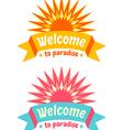 sun logos vector image vector image
