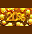 twenty percent or 20 marketing offer vector image vector image
