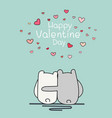 valentine day card with two cute bear vector image vector image