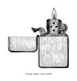 vintage lighter hand drawing clip art isolated on vector image vector image