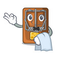waiter mousetrap isolated with in the cartoon vector image vector image