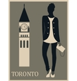 Woman in Toronto vector image