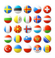 world flags round badges magnets europe vector image
