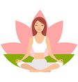 yoga woman meditating vector image vector image