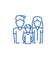 young family line icon concept young family flat vector image