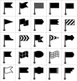 Set of black icons flags vector image