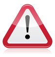 Warning sign exclamation vector image