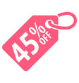 45 percent off tag vector image vector image