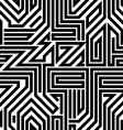 Abstract circuit board black and white seamless vector image