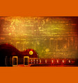 abstract grunge background with acoustic guitar vector image vector image