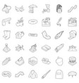 air environment icons set outline style vector image vector image