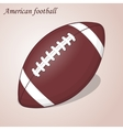 American Football ball isolated on a pink vector image vector image