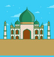 arabic mosque icon in lineart style vector image