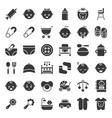 baand emoticon solid icon set vector image