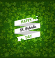 backgrounds with clovers vector image vector image