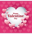 beautiful card happy valentines day frame heart vector image vector image