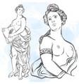 beautiful greek goddess the mythological vector image