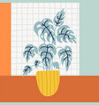 beautiful object with home plants vector image