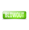 blowout green square 3d realistic isolated web vector image vector image
