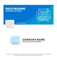 blue business logo template for cart online shop vector image