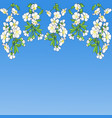 border with flowering branches vector image