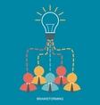 brainstorm and teamwork vector image