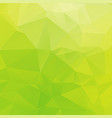 brightly green white yellow triangular background vector image