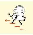 Business Man Running Up vector image vector image