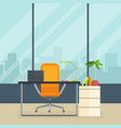 business workplace modern interior empty vector image