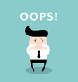 businessman with the mouth shut by his hands he vector image