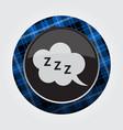 button blue black tartan - zzz speech bubble icon vector image vector image
