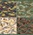 camouflage seamless pattern fabric textile print vector image vector image
