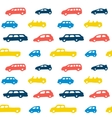 Car toy color seamless pattern background vector image vector image