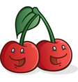 cherry cartoon characters smiling vector image vector image