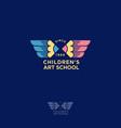 childrens art school logo vector image