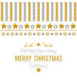 christmas card with golden and silver glittering vector image vector image