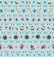 christmas seamless pattern with desserts and light vector image vector image
