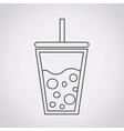 cold drink icon vector image vector image